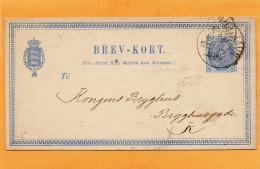 Denmark Old Card Mailed - 1864-04 (Christian IX)