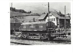 18994 - Chemin De Fer Montbovon Wagon à Ordures X 1011 Photo Grandguillaume BVA 1965 (format10X15) - FR Fribourg