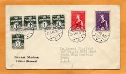 Denmark 1940 Cover Mailed - 1864-04 (Christian IX)
