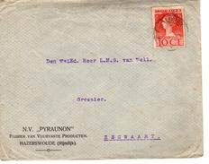 1925  Brief Met Firmalogo Van LEIDERDORP Naar Zegwaart Met NVPH 124 - Lettres & Documents