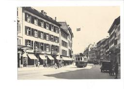 19004 - Chemin De Fer Tram Bienne Rue Du Canal Vers 1920 BVA (format10X15) - BE Berne