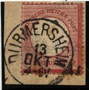 D.R.Brustschildmarke Mit Stempel Durmersheim  (126) - Deutschland