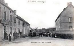 Moureuille - Canton De Saint-Eloy-les-Mines - Auberge PILANDON, Rue Principale - Très Beau Plan Animé - Saint Eloy Les Mines