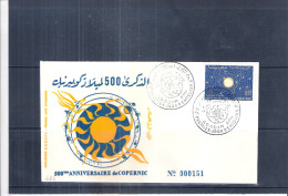 FDC Maroc - 500ème Anniv. De Copernic - 1973 - Astrologie