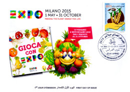 ARGELIA 2014 FDC  FDC Expo Milan 2015 Milano Italia Italy Exposition Food Nutrition Alimentation - 2015 – Milan (Italy)
