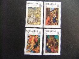 GIBRALTAR 1978 Noël Tableaux De Dürer Yvert Nº 384 / 387 ** MNH Sg Nº 412 / 15 ** MNH - Madonnas