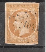 Empire N° 13 A Obl Pc 1043 De LA CROIX BLANCHE , Lot Et Garonne, INDICE 21 , BELLE FRAPPE , B/TB !!! RARE - 1853-1860 Napoleon III
