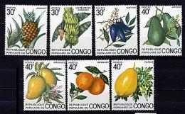 Congo * N° 359 à 365 - Ananas, Bananes, Safous, Avocts, Mangues, Oranges, Papaye -  - - Congo - Brazzaville