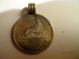 Ethiopia 50 Santeem 1936 EE = 1944 With A Silver Loop - Ethiopie
