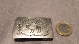 Boucle De Ceinture USA,silver,argent,déco Bison. - Silberzeug