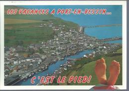 Port-en-Bessin (14) : Vue Générale - Port-en-Bessin-Huppain