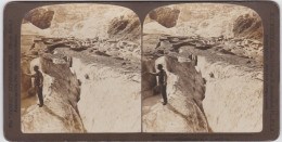 ORIGINALE-PHOTO-STEREO-1901-SUISSE-SWITZERLAND-EISMEER-AMERICAN-STEREOSCOPIC-COMPANY-VINTAGE-VOYEZ 2 SCANS-TOP ! ! ! - Stereoscopic