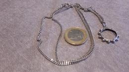 Chaine + Pendentif, Argent,silver.déco Religieuse. - Halsketten