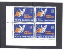 KUR61  ALBANIEN 1992  MICHL 2505 Postfrische VIERERBÖCKE SIEHE ABBILDUNG - Albanien