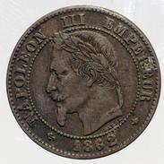 2 Centimes Napoléon III - 1862 A - B. 2 Centimes