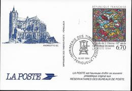 SOUVENIR PHILATELIQUE PERIGUEUX  1994 CATHEDRALE DU MANS - Documentos Del Correo