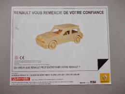 - Maquette En Bois: Renault 5 Turbo - - Voitures