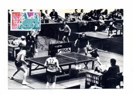 Carte Maximum Fdc 1977 Paris Tennis De Table Secretin