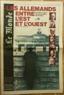 Le Monde - N° Spécial Janvier 1990 : Les Allemands Entre L'Est Et L'Ouest - [Berlin - Mur - Mauer - Wall - 1943-1985] - Zeitungen