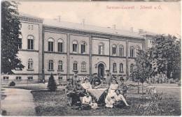 SCHWEDT Oder Garnison Lazarett Belebt Verwundete Mit Familienbesuch 30.6.1915 Gelaufen - Schwedt