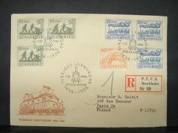 LetDoc. 37. Lettre De Suède Vers Paris 1956. En Recommandé - Suède