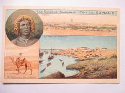 SOMALIE  -  VUES MULTIPLES  -  PUB  CHOCOLAT Cie. COLONIALE     TRES ANIME          TTB - Somalia