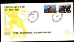 PAESI BASSI  1993 - FDC - Unificato  1430/1 - Industria Automobilistica E Ciclistica - Fabbriche E Imprese