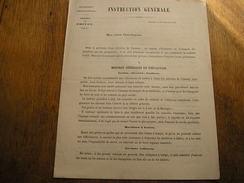GUERRE DE 1870,Chartres Septembre 1870,instructions En Cas D'invasion Ennemi,(588) - Documents