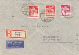 20329. Carta Aerea Certificada ESSLINGEN (Alemania Zona Anglo Amerikan) 1949 - Zona Anglo-Américan