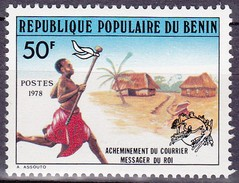 Timbre-poste Neuf** - Acheminement Du Courrier Messager Du Roi - N° 434 (Yvert) - République Populaire Du Bénin 1978 - Benin – Dahomey (1960-...)