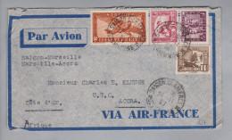 Vietnam Indo-China Saigon 1937-02-26 Luftpostbrief Nach Accra - Viêt-Nam