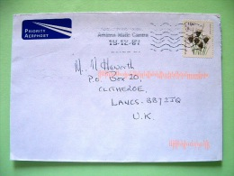 Ireland 2007 Cover To England - Plant Flowers - Black Bog-rush - Scott 1710 = 2.10 $ - 1949-... Repubblica D'Irlanda