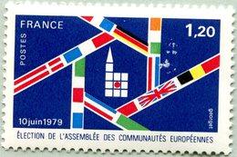 N° Yvert & Tellier 2050 - Timbre De France (1979) - MNH - Élections Assemblée Communauté Européenne - Francia