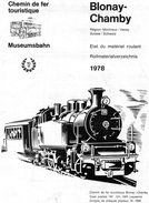 611Or  Chemin De Fer Blonay Chamby Etat Du Materiel Roulant 1978 - Chemin De Fer