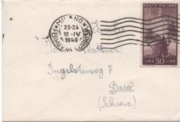 3092    Carta  Pequeña  Milano 1949 Italia Ferrovia - 6. 1946-.. Repubblica