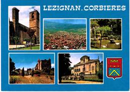 Lezignan Corbières  L'Eglise Vue Générale - Jardin Public - Château De La Belle Isle - Chateau De Sérame - Frankrijk