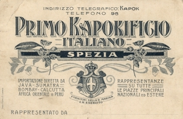 LA SPEZIA - CARTOLINA COMMERCIALE PRIM0 KAPOKIFICIO ITALIANO - La Spezia