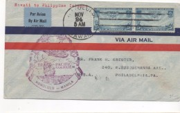 3092   Carta Honolulu 1924 . Manila  1º Vuelo, Pacifi , Aéreo ,avion - Hawai