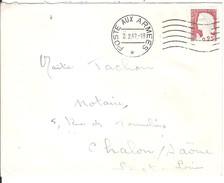 POSTE AUX ARMEES_*._Cachet De Février 1962 Sur Lettre Affranchie DECARIS - Storia Postale