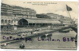- 173 - ALGER - Gare Du P L M, Façade Des Boulevards Carnot Et De La République, Tonneaux, Peu Courante, TTBE, Scans. - Alger