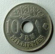 Egypt 10 Milliemes 1917 (KN) - Egitto