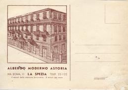 LA SPEZIA - CARTOLINA COMMERCIALE ALBERG0 MODERNO ASTORIA - La Spezia