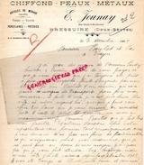 79 - BRESSUIRE- FACTURE E. JOUNAY- CHIFFONS PEAUX METAUX-RUE DENFERT ROCHEREAU-1925 - 1900 – 1949