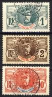 Haut Senegal-Niger 1906 Serie N. 1-17 Palmiers Lotto Di 3 Valori Usati Catalogo € 7,20 - Non Classés
