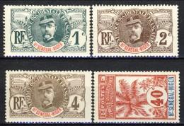 Haut Senegal-Niger 1906 Serie N. 1-17 Palmiers Lotto Di 4 Valori MLH Catalogo € 15,30