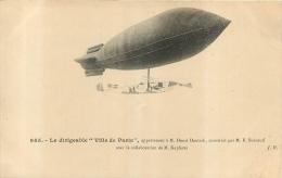 DIRIGEABLE  VILLE DE PARIS - Dirigeables