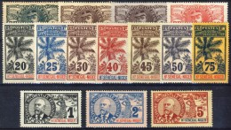 Haut Senegal-Niger 1906 Serie N. 1-17 Palmiers MLH Molto, Molto Bella Catalogo € 356