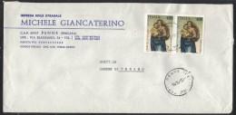 AE17      Storia Postale 1983  Coppia Raffaello  Natale 1983  £. 400 Su Busta Commerciale Penne (PE) - 1946-.. République