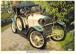 AUTOMOBILE (auto Voiture) QUADRILETTE PEUGEOT 1914 ( Editions :ABEILLES-CARTES LYNA 2039/5) *PRIX FIXE - Turismo