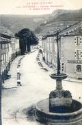 Tarn - Dourgne - Fontaine Monumentale Et Avenue D'Arfons - Dourgne